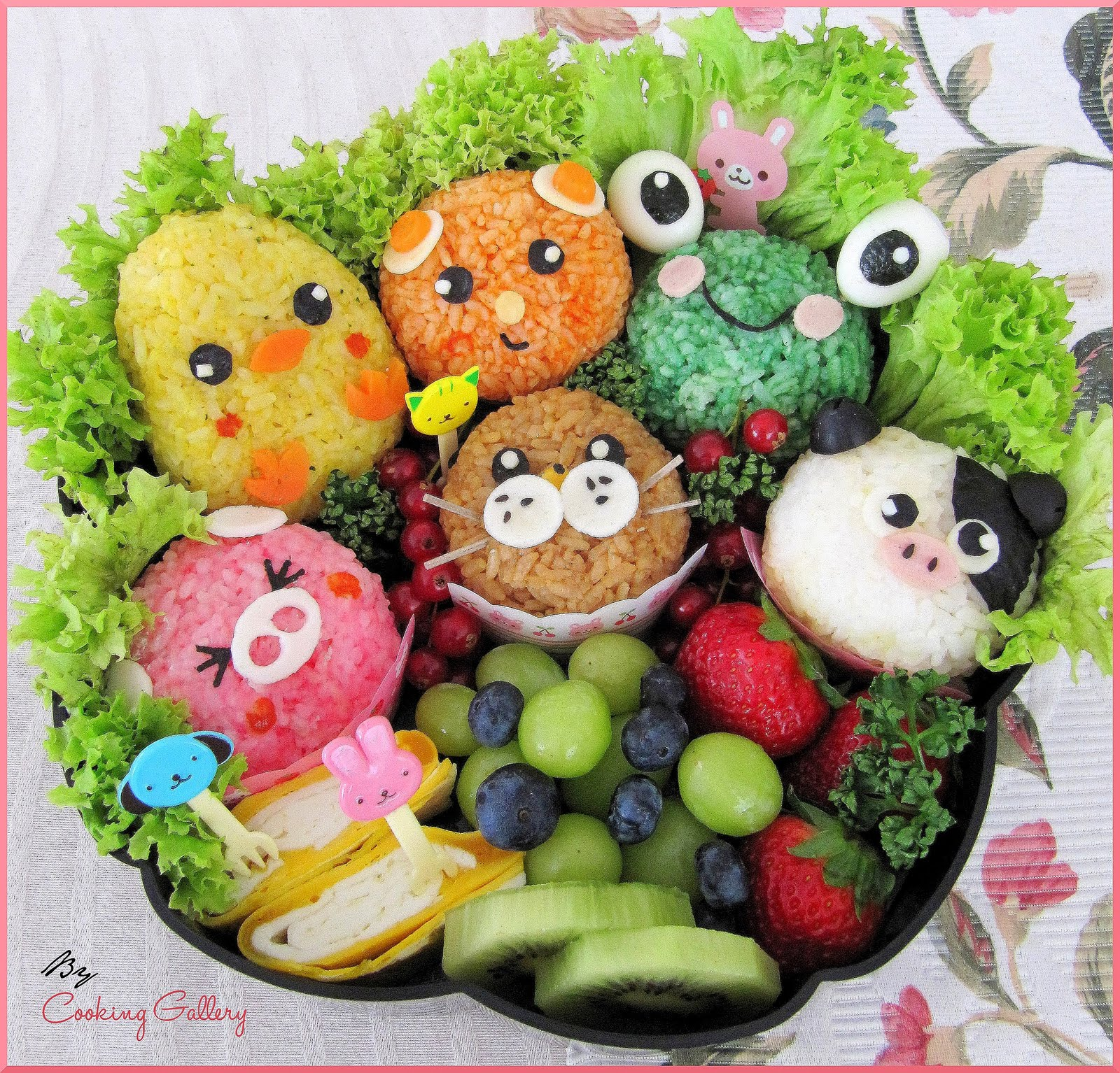 cute food japanese animals characters anime bento kawaii animal box boxes asian easy lunch eat too cuteness picnic cooking different